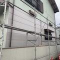【福岡県 苅田町】数十年前の台風で傷んだ外壁を張り替え、残りの部分は塗り替え!(^^)!