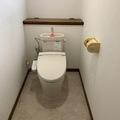 【福岡県 苅田町】簡易水洗トイレが老朽化。ついでにクロス、床のシートも張替(^^♪